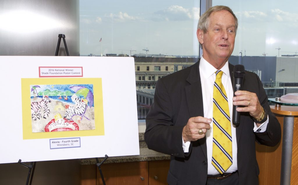 Congressman Joe Wilson (SC-02) addresses attendees at the 2016 Shade Poster Contest Reception